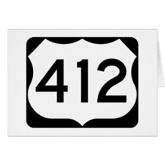 US Route 412 Sign Card