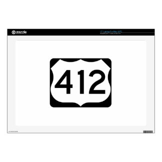 US Route 412 Sign Laptop Decal