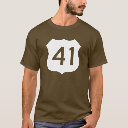 US Route 41 Sign T_Shirt