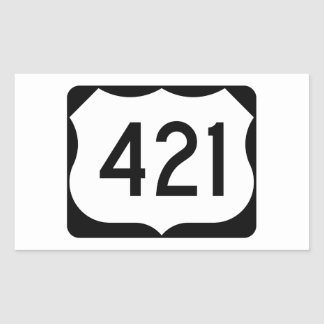 US Route 421 Sign Rectangular Sticker