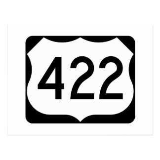 US Route 422 Sign Postcard