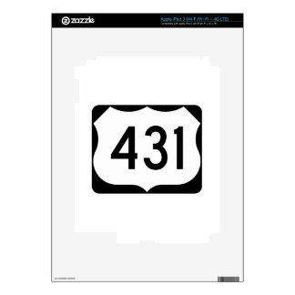 US Route 431 Sign Decals For iPad 3