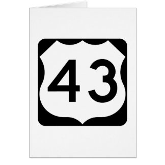 US Route 43 Sign Card