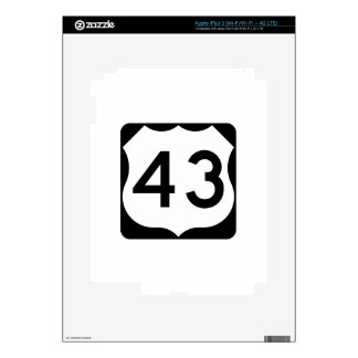 US Route 43 Sign Skin For iPad 3