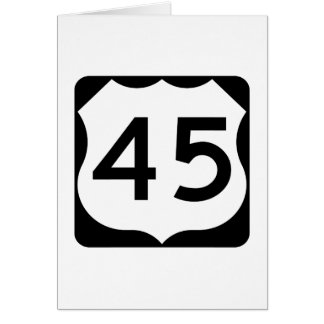 US Route 45 Sign Card