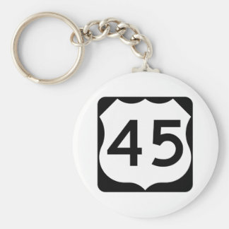 US Route 45 Sign Keychain