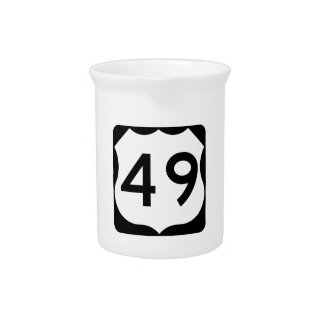 US Route 49 Sign Drink Pitcher