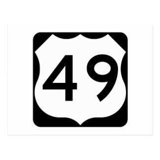 US Route 49 Sign Postcard