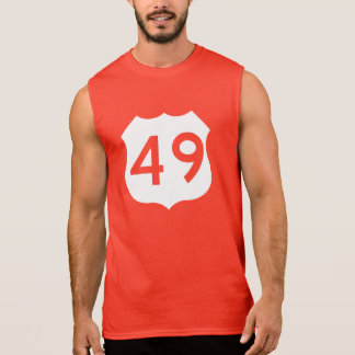 US Route 49 Sign Sleeveless T-shirt