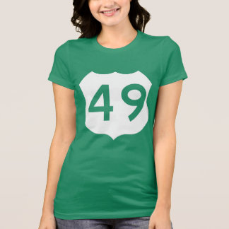 US Route 49 Sign T-shirts