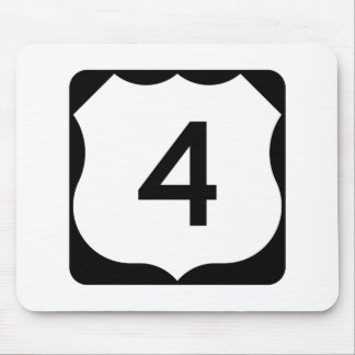 US Route 4 Sign Mouse Pad