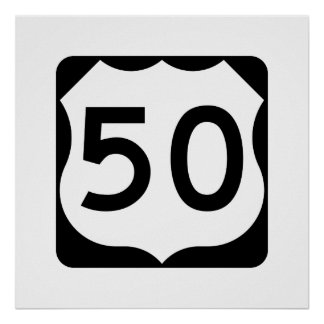 US Route 50 Sign