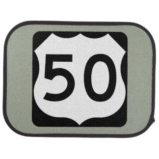 US Route 50 Sign Car Mat