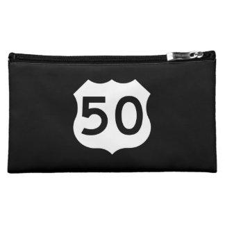 US Route 50 Sign Makeup Bag