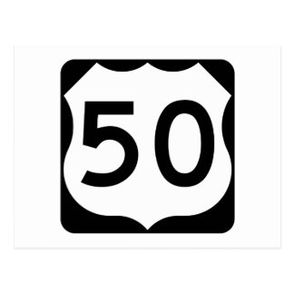 US Route 50 Sign Postcard
