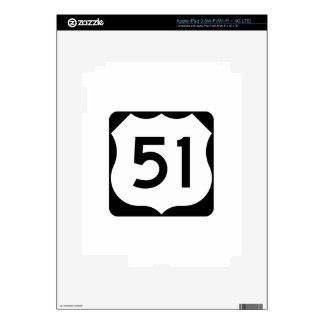 US Route 51 Sign iPad 3 Decal