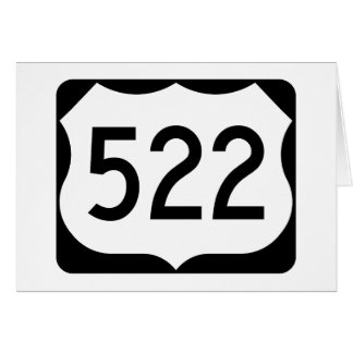 US Route 522 Sign Card