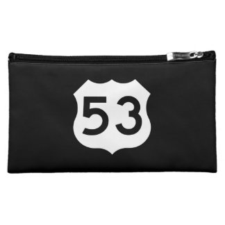 US Route 53 Sign Cosmetic Bag