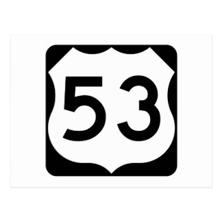 US Route 53 Sign Postcard