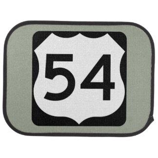 US Route 54 Sign Car Mat
