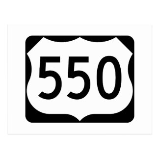 US Route 550 Sign Postcard