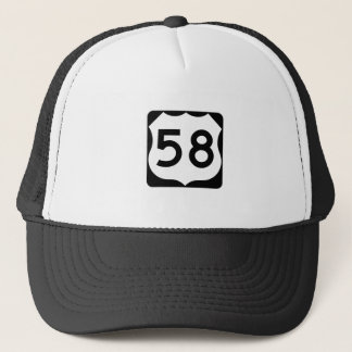 US Route 58 Sign Trucker Hat