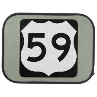 US Route 59 Sign Car Mat