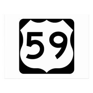 US Route 59 Sign Postcard