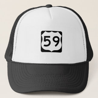 US Route 59 Sign Trucker Hat