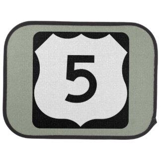 US Route 5 Sign Car Floor Mat