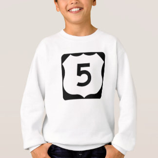 US Route 5 Sign Sweatshirt