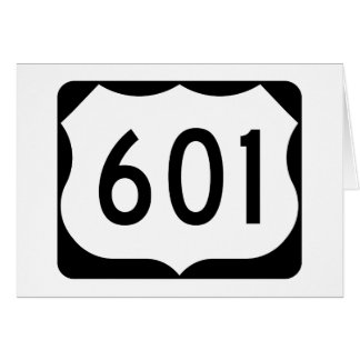 US Route 601 Sign Card