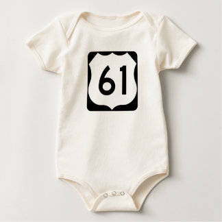 US Route 61 Sign Baby Bodysuit