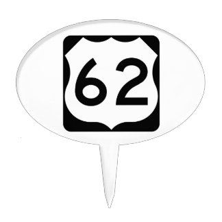US Route 62 Sign Cake Topper