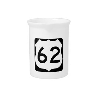 US Route 62 Sign Drink Pitchers