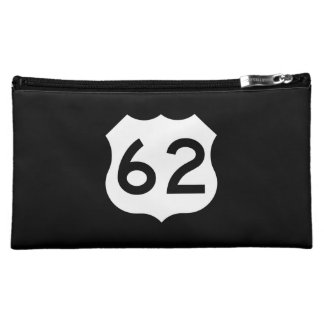 US Route 62 Sign Makeup Bag