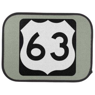 US Route 63 Sign Car Floor Mat