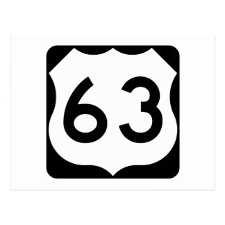 US Route 63 Sign Postcard