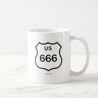 US Route 666 Shield Sign (Transportation Sign) Coffee Mug