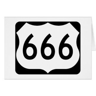 US Route 666 Sign Greeting Card