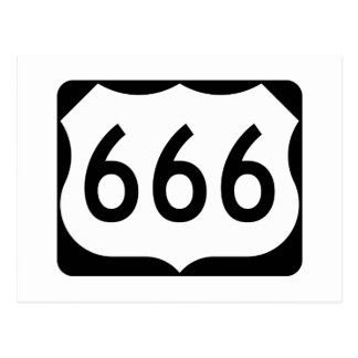 US Route 666 Sign Postcard