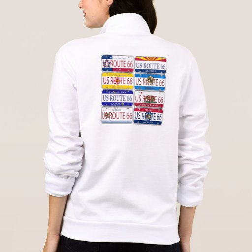 US ROUTE 66 All 8 States Vanity Plates T Shirts