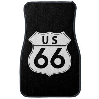 US Route 66 Classic Front Car Mat Set