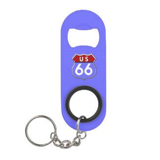 US Route 66 Legendary Mini Bottle Opener Keychain