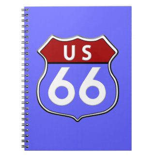 US Route 66 Legendary Photo Notebook
