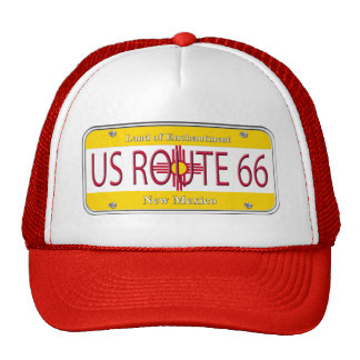 US ROUTE 66 NEW MEXICO Vanity Plate Trucker Hat