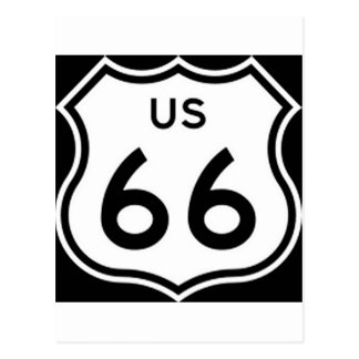 US Route 66 Sign Postcard