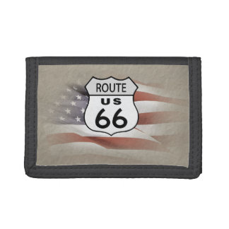 US Route 66. Trifold Wallet