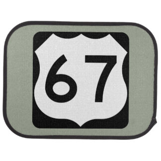 US Route 67 Sign Car Mat