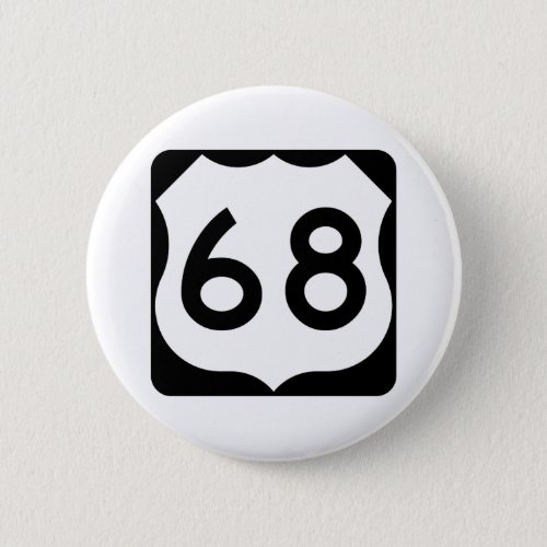 US Route 68 Sign Button